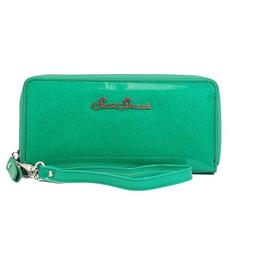 Starstruck Emerald Green Glitter Wristlet
