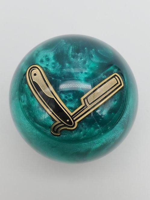 Special Edition Straight Razor Emerald Shimmer Swirl Floor Shift