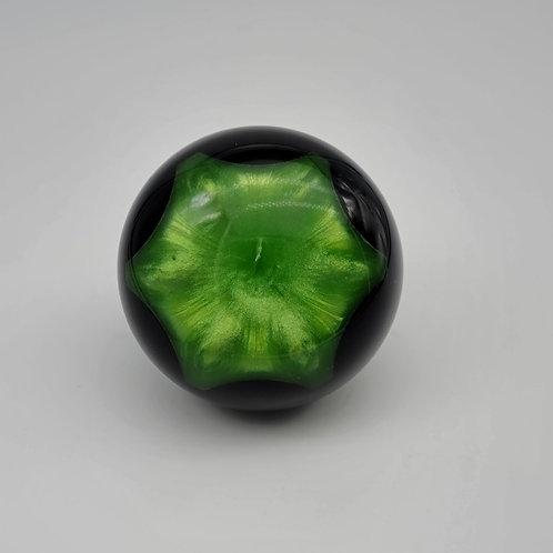 Black and Green Shimmer Starburst Floor Shift Knob