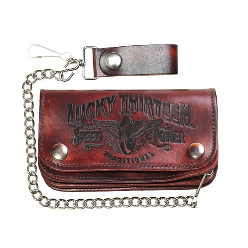 The Traditional Speed Embossed Leather Wallet
