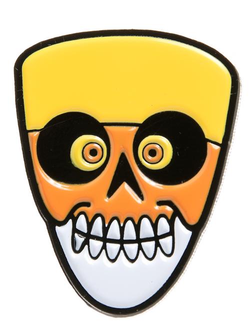 Candy Corn Skull Enamel Pin