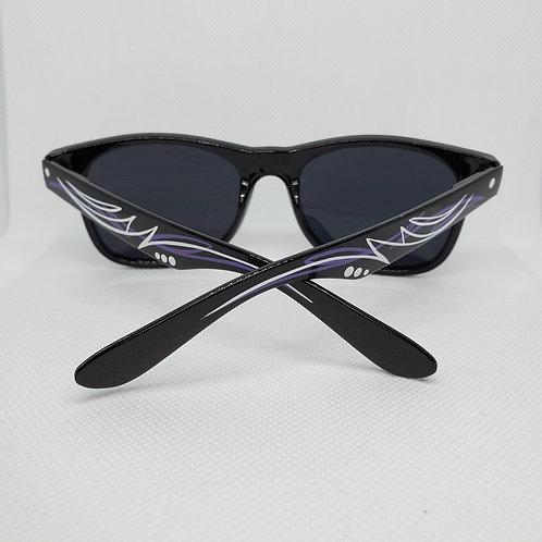 Custom Pinstriped Sunglasses - Purple