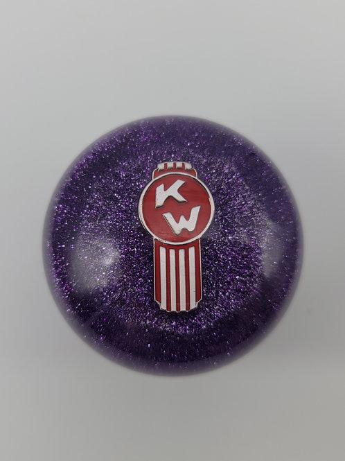 Kenworth Purple Metal Flake Trucker Shift Knob