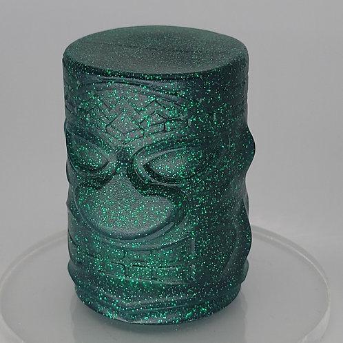 Green Metal Flake Tiki Head Column Shift Knob