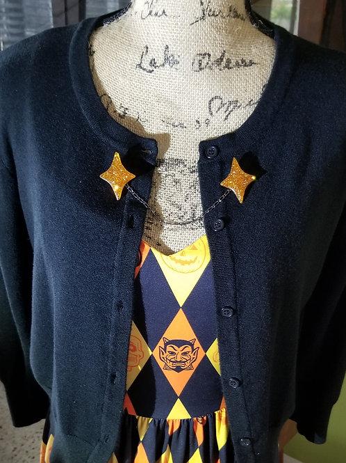 Custom Halloween Retro Diamond Sweater Pins