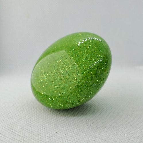 Lime Green with Gold Metal Flake Mushroom Floor Shift Knob