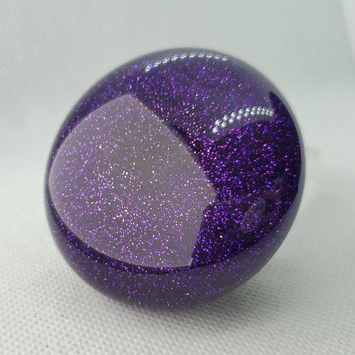 Purple Metal Flake Retro Mushroom Floor Shift Knob