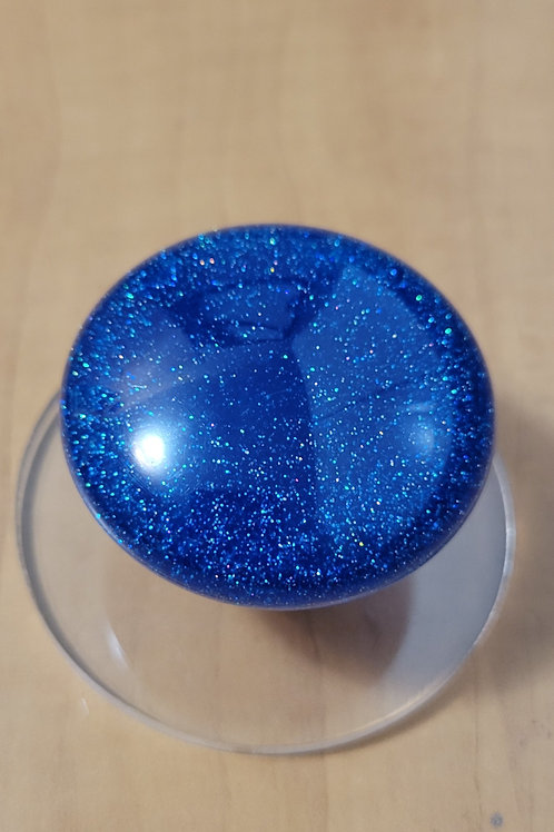 Blue Prism Flake Mushroom Trucker Shift Knob