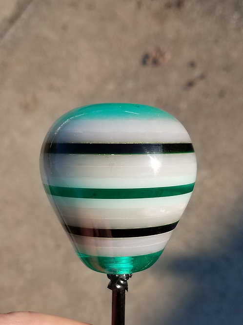 Translucent Aqua, Teal And Pearl Layered Knob