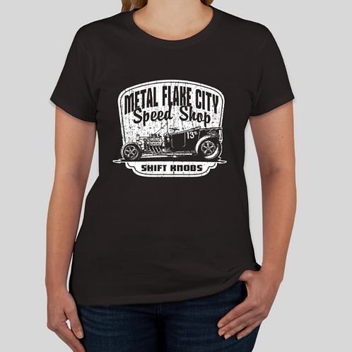 Metal Flake City Speed Shop Womens Shirt