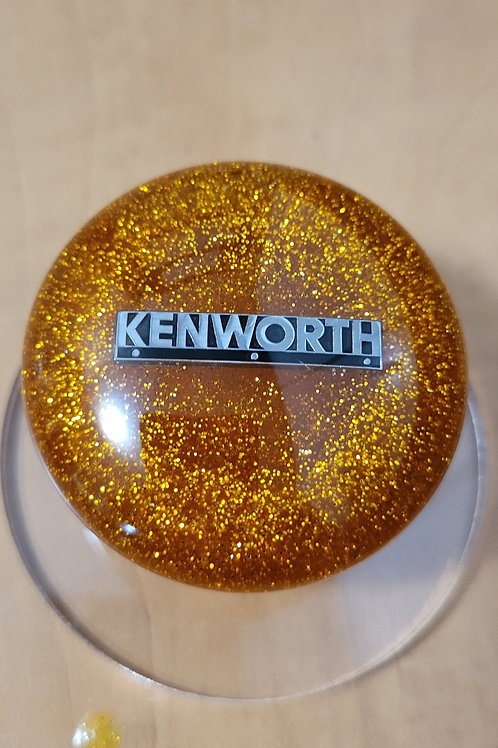 Gold Flake Mushroom Kenworth Shift Knob