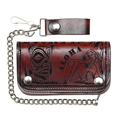 Aloha Leather Chain Wallet