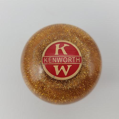 Kenworth Gold Metal Flake Trucker Shift Knob