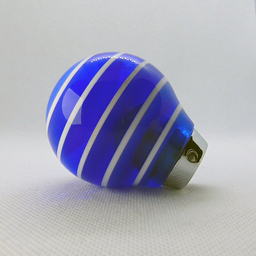 Dark Clear Blue and White Layered Universal Shift Knob