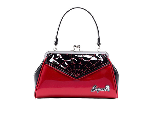 Spiderweb Backseat Baby Purse Red
