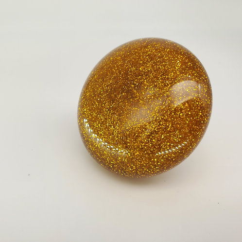 Gold Metal Flake Mushroom Floor Shift Knob