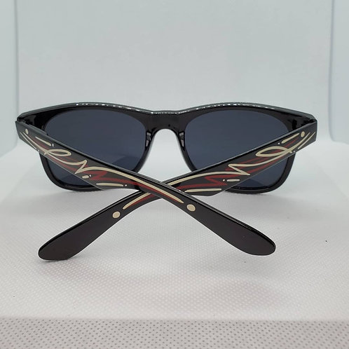 Custom Pinstriped Sunglasses - Red