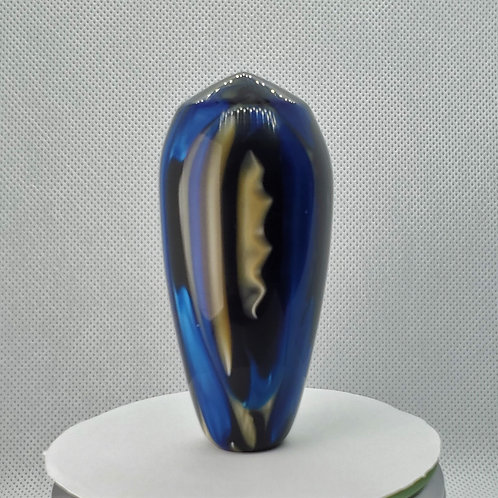 Custom Electric Blue Swirl Shift Knob