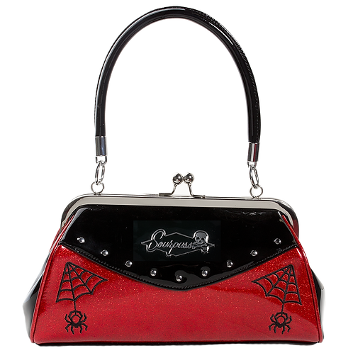 Sourpuss Webbed Widow Purse Black/Red