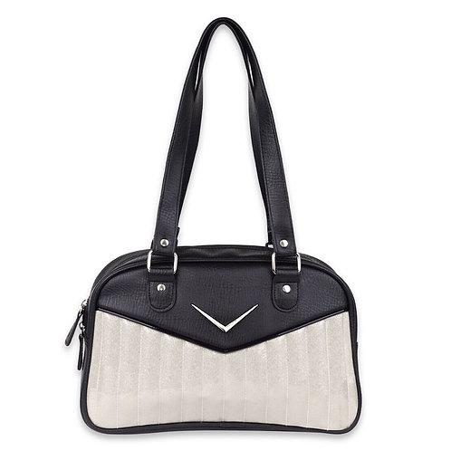 Bonneville White Glitter Handbag