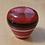 Thumbnail: Red Multi Color Layered Old Square Pete Emblem Floor Shift Knob