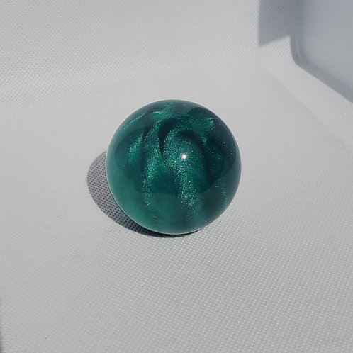Emerald Green Shimmer Swirl Floor Shift