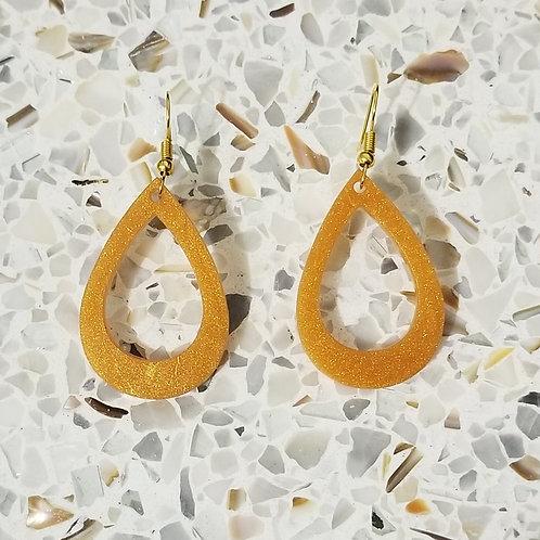 Shimmer Retro Dangle Teardrop Earrings