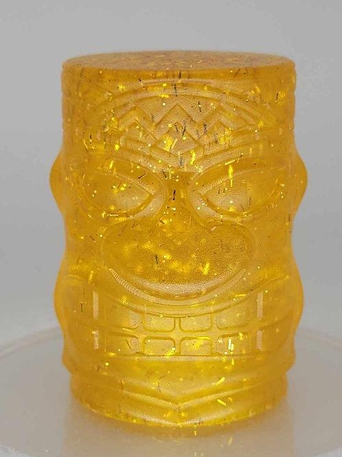 Gold Sliver Metal Flake Tiki Head Column Shift Knob