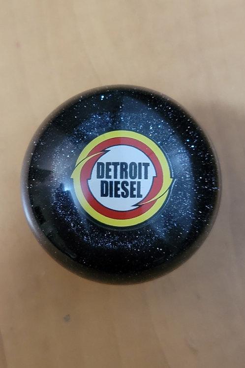 Black Metal Flake Detroit Diesel Trucker Shift Knob