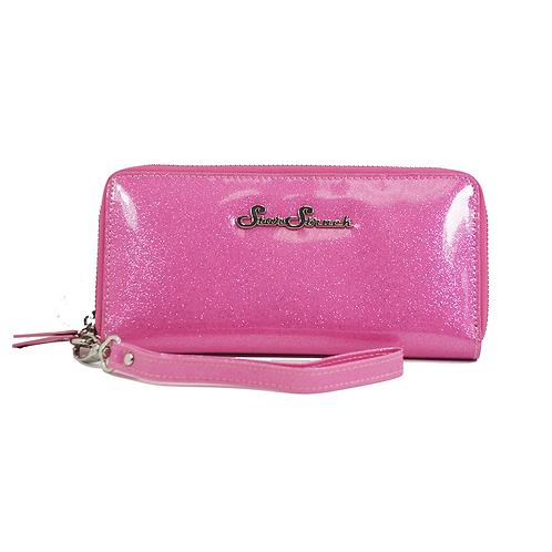Starstruck Pink Glitter Wristlet