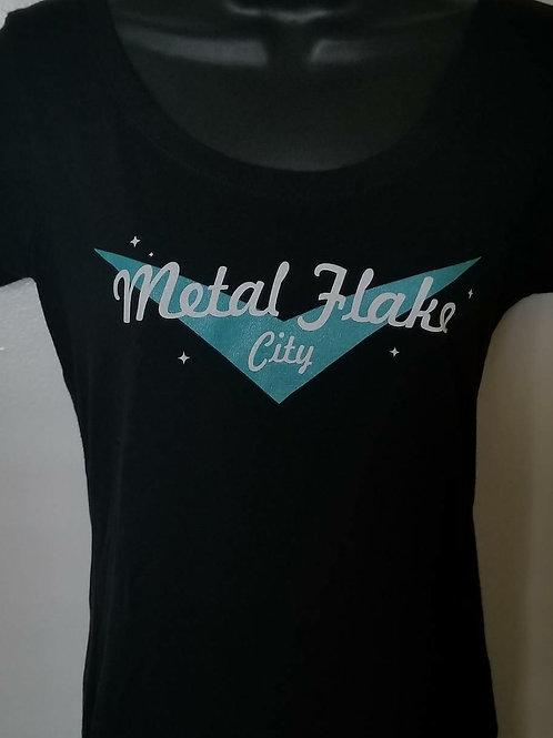 Metal Flake City Womens Tee