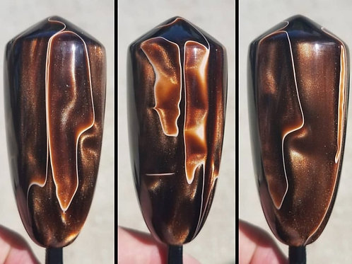 Custom Espresso and Gold Shimmer Swirl Shift Knob