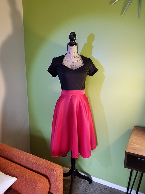 Perfect Red Circle Skirt