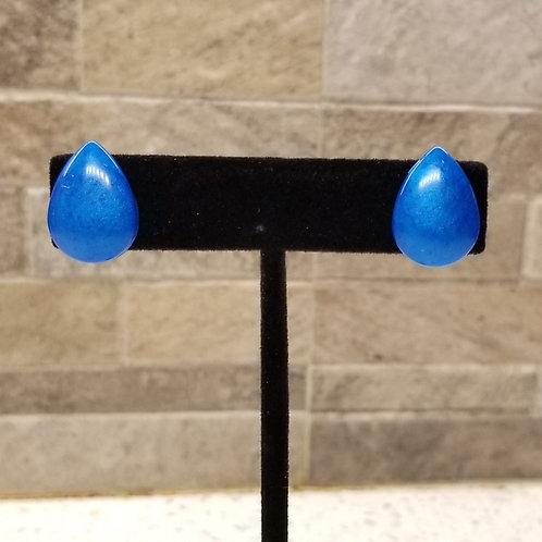 Shimmer Retro Teardrop Stud Earrings