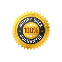100% Money Back Guarantee Badge Design F