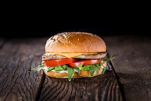 deep burger fod photo