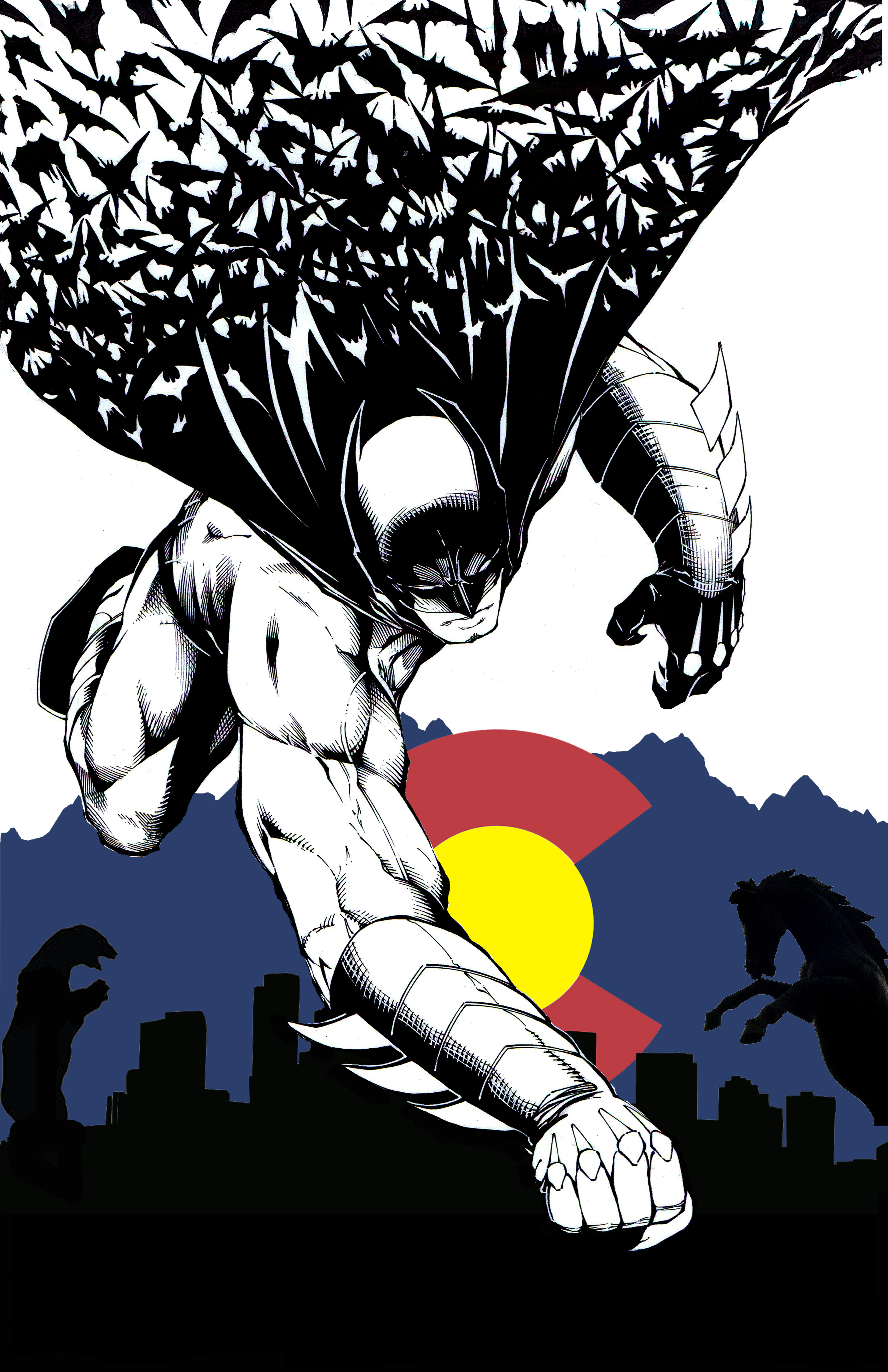 Batman descending on Denver