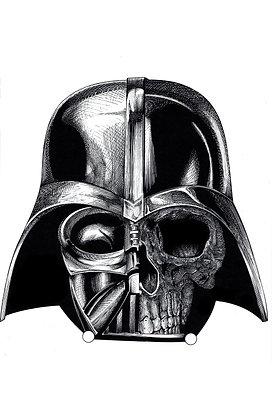 Darth Vader half skull