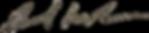 Signature of BA Anderson, CEO of USA BMX/BMX Canada