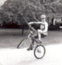 Todd Kingbury on a bmx bike.
