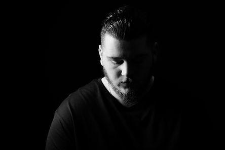 Nottingham Music Headshot in black and white