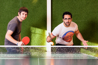 men playing table tennis derby commercial photography