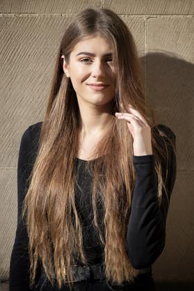Nottingham female model with long hair