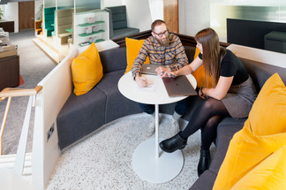 High angle view of office commercial photography derby