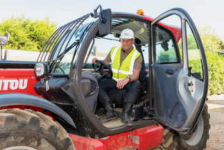 nottingham commercial photography of man in a tractor