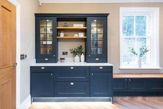 blue kitchen storage interior photography leicester