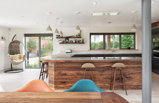 open plan kitchen diner interior photography lincoln