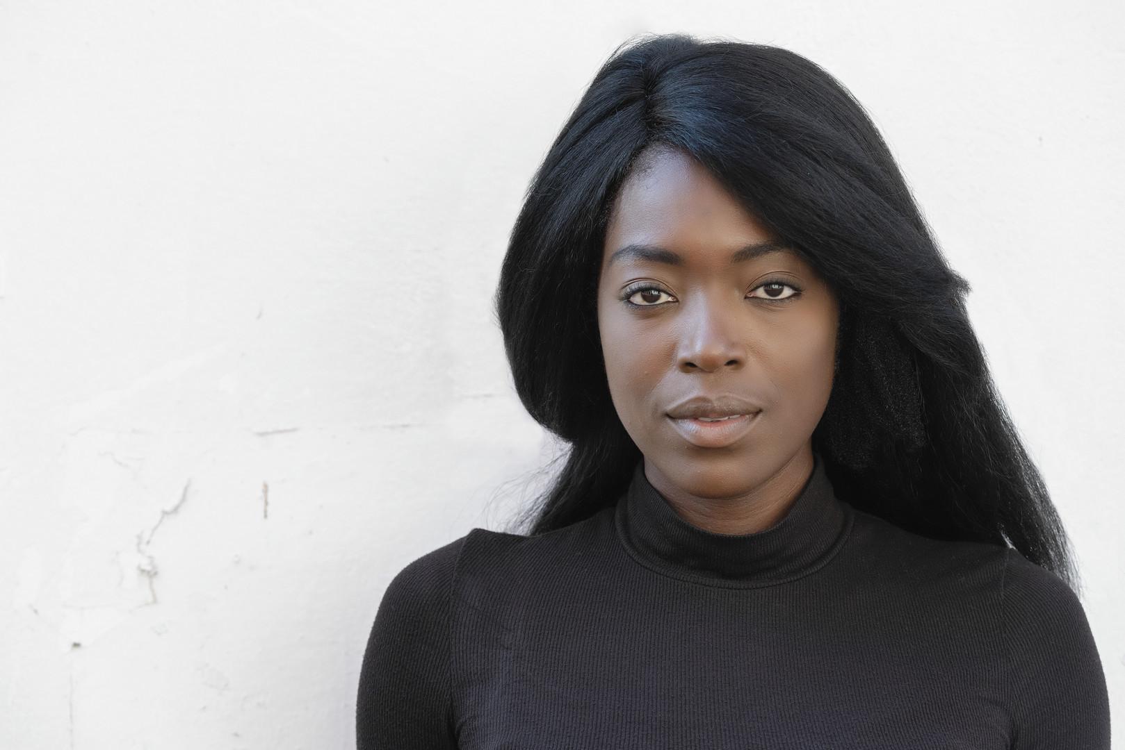 Jade Lewis Nottingham Actor Headshot on white background