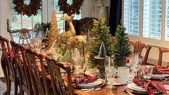 A Tartan Winter Tablescape