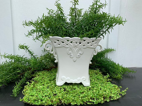 Elegant White Garden Pot